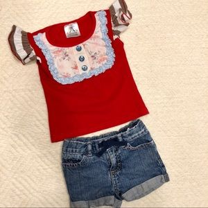 Boutique top and shorts